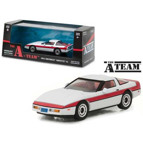 "1984 Chevrolet Corvette C4 ""The A Team"" 1983-1987 TV Series 1/43 Diecast Model Car by Greenlight"