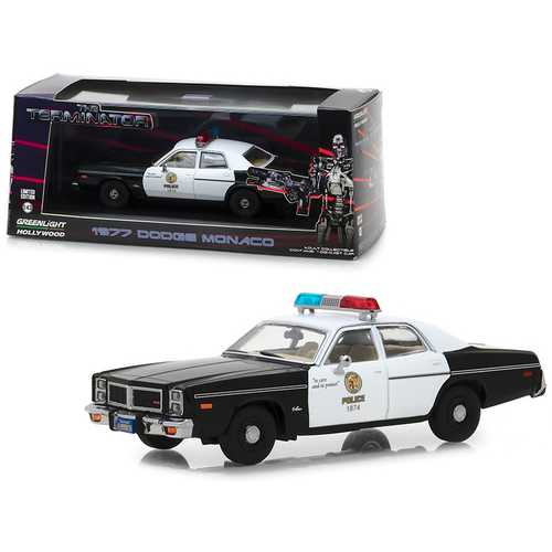 "1977 Dodge Monaco Metropolitan Police ""The Terminator"" (1984) Movie 1/43 Diecast Model Car by Greenlight"
