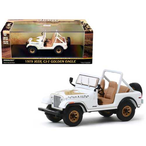 "1979 Jeep CJ-7 Golden Eagle ""Dixie"" White 1/43 Diecast Model Car  by Greenlight"