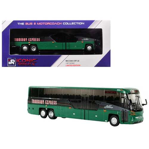 "MCI D45 CRT LE Coach ""AC Transit"" Bus ""Transbay Express"" (San Francisco) Green 1/87 Diecast Model by Iconic Replicas"