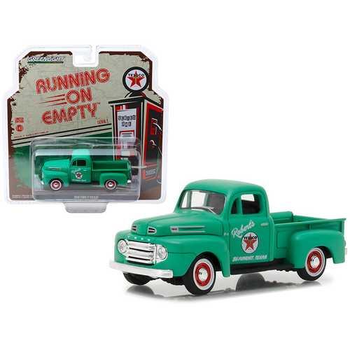 """1948 Ford F1 Pickup Truck """"Texaco"""" Matt Green """"Running on Empty"""" Release 1 1/43 Diecast Model Car by Greenlight"""