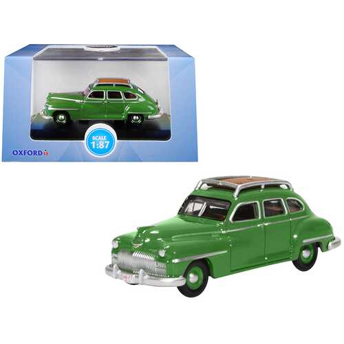1946-1948 DeSoto Suburban with Roof Rack Noel Green 1/87 (HO) Scale Diecast Model Car by Oxford Diecast