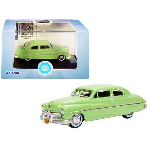 1949 Mercury Coupe Calcutta Green 1/87 (HO) Scale Diecast Model Car by Oxford Diecast