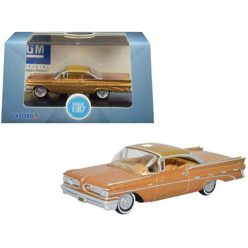 1959 Pontiac Bonneville Coupe Canyon Copper Metallic 1/87 (HO) Scale Diecast Model Car by Oxford Diecast