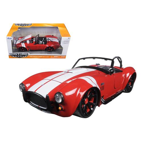 1965 Shelby Cobra 427 S/C Red With White Stripes 1/24 Diecast Model Car by Jada
