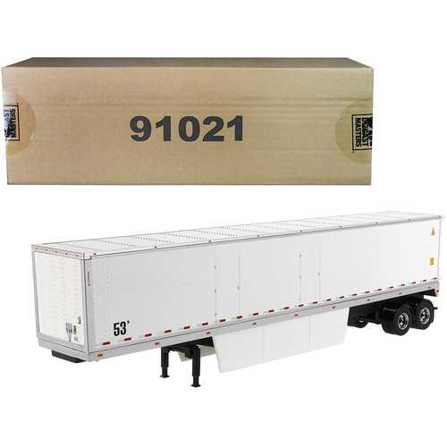 "53' Dry Cargo Van Trailer White ""Transport Series"" 1/50 Diecast Model by Diecast Masters"