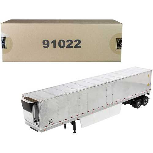 """53' Reefer Refrigerated Van Trailer Chrome """"Transport Series"""" 1/50 Diecast Model by Diecast Masters"""