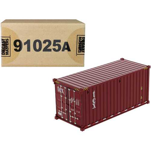 """20' Dry Goods Sea Container """"TEX"""" Burgundy """"Transport Series"""" 1/50 Model by Diecast Masters"""