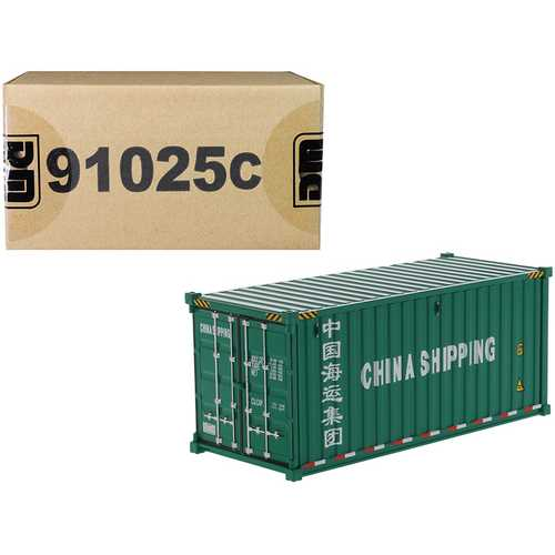 """20' Dry Goods Sea Container """"China Shipping"""" Green """"Transport Series"""" 1/50 Model by Diecast Masters"""