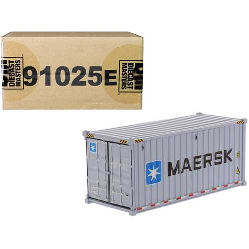 """20' Dry Goods Sea Container """"MAERSK"""" Gray """"Transport Series"""" 1/50 Model by Diecast Masters"""