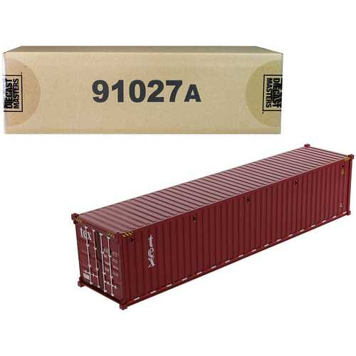 """40' Dry Goods Sea Container """"TEX"""" Burgundy """"Transport Series"""" 1/50 Model by Diecast Masters"""