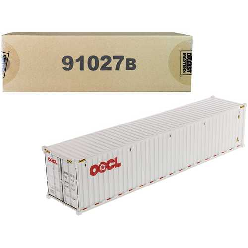 """40' Dry Goods Sea Container """"OOCL"""" White """"Transport Series"""" 1/50 Model by Diecast Masters"""
