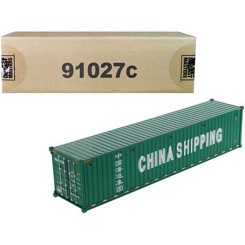 """40' Dry Goods Sea Container """"China Shipping"""" Green """"Transport Series"""" 1/50 Model by Diecast Masters"""