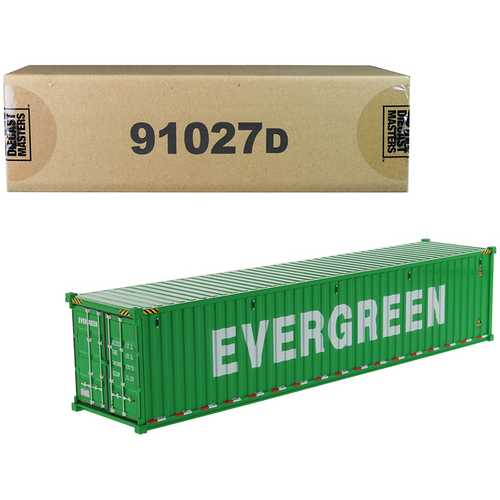 """40' Dry Goods Sea Container """"EverGreen"""" Green """"Transport Series"""" 1/50 Model by Diecast Masters"""