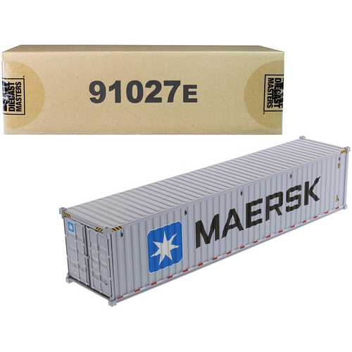 """40' Dry Goods Sea Container """"MAERSK"""" Gray """"Transport Series"""" 1/50 Model by Diecast Masters"""