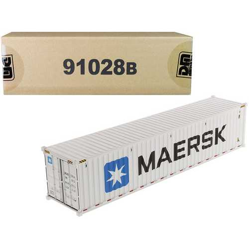 """40' Refrigerated Sea Container """"MAERSK"""" White """"Transport Series"""" 1/50 Model by Diecast Masters"""