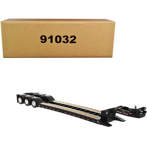 "XL 120 Low-Profile HDG Trailer with 2 Boosters ""Transport Series"" 1/50 Diecast Model by Diecast Masters"