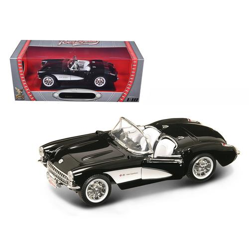 JADA 1957 CORVETTE BLACK 1//24 DIECAST CAR 90935BK