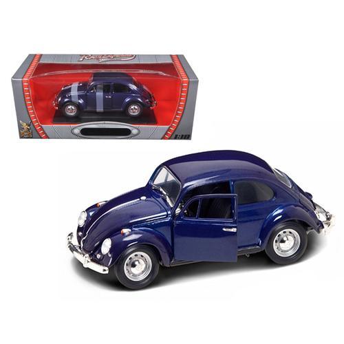 1967 Volkswagen Beetle Dark Blue 1/18 Diecast Car by Road Signature