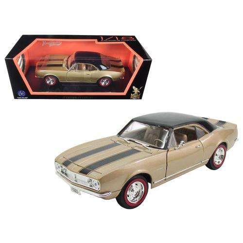 1967 Chevrolet Camaro Z/28 Gold with Black Stripes 1/18 Diecast Model Car  by Road Signature