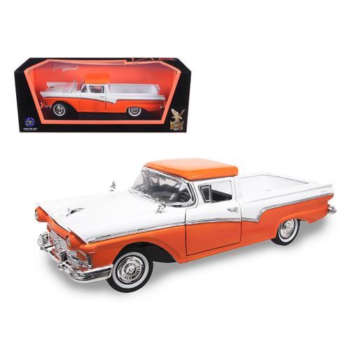 1957 Ford Ranchero Pickup Truck Orange 1/18 Diecast Model Car by Road Signature