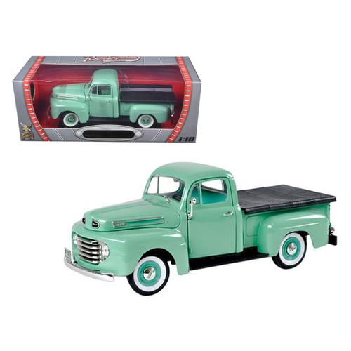 1948 Ford F1 Pickup Truck Green 1/18 Diecast Model Car by Road Signature