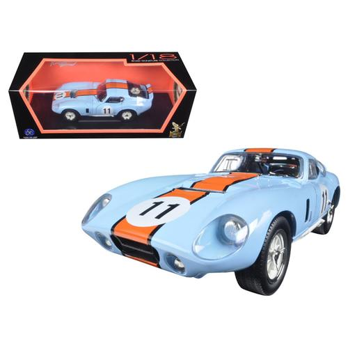 1965 Shelby Cobra Daytona #11 Blue 1/18 Diecast Car Model by Road Signature