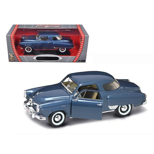 1950 Studebaker Champion Blue Metallic 1/18 Diecast Model Car by Road Signature