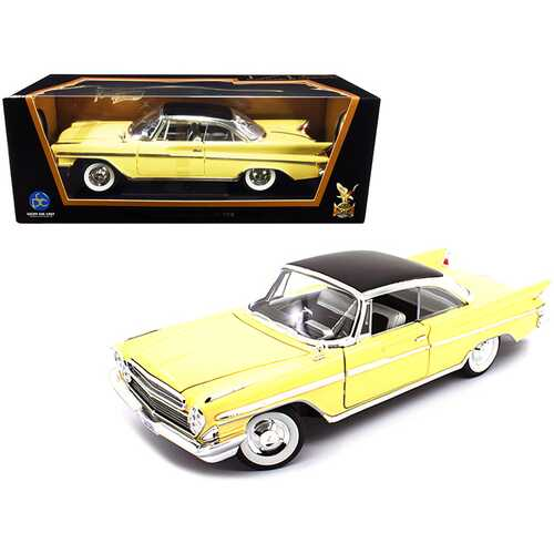 1961 DeSoto Adventurer Yellow with Black Top 1/18 Diecast Model Car by Road Signature