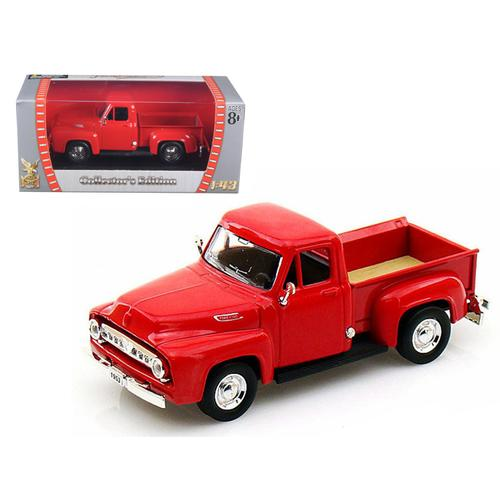 1953 Ford F-100 Pickup Truck Red 1/43 Diecast Model Car by Road Signature