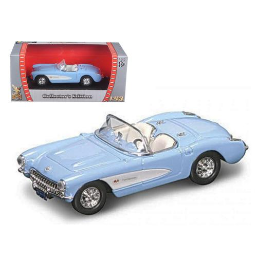 1957 Chevrolet Corvette Blue 1/43 Diecast Model Car by Road Signature