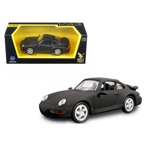 1996 Porsche 911 Turbo Matt Black 1/43 Diecast Model Car by Road Signature
