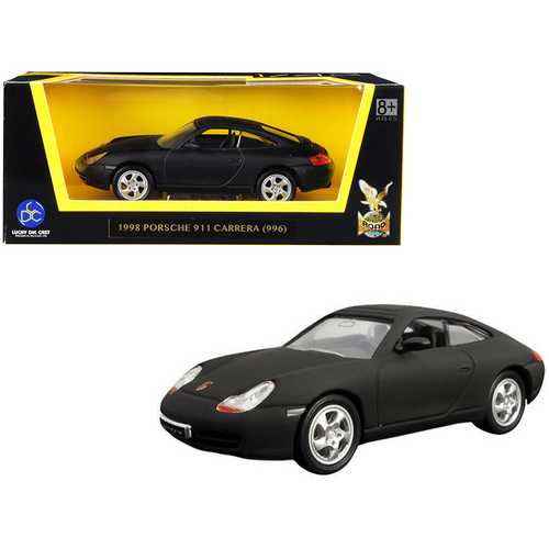 1998 Porsche 911 (996) Carrera Matt Black 1/43 Diecast Model Car by Road Signature
