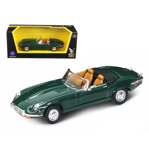 1971 Jaguar E Type Convertible Green 1/43 Diecast Model Car by Road Signature