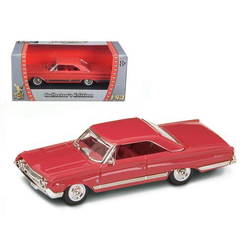 1964 Mercury Marauder Red/Cinnamon 1/43 Diecast Model Car by Road Signature