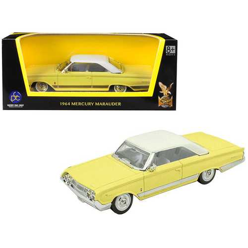 1964 Mercury Marauder Yellow with White Top 1/43 Diecast Model Car by Road Signature