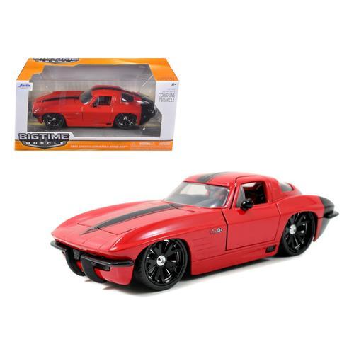 1963 Chevrolet Corvette Stingray Red 1/24 Diecast Model Car by Jada