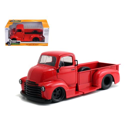 1952 Chevrolet COE Pickup Truck Red with Black Wheels 1/24 Diecast Model by Jada