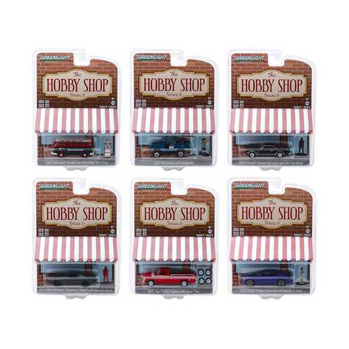 """The Hobby Shop"" Set of 6 Cars Series 6 1/64 Diecast Models by Greenlight"