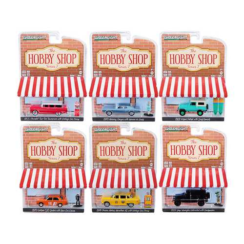 """The Hobby Shop"" Set of 6 pieces Series 7 1/64 Diecast Model Cars by Greenlight"