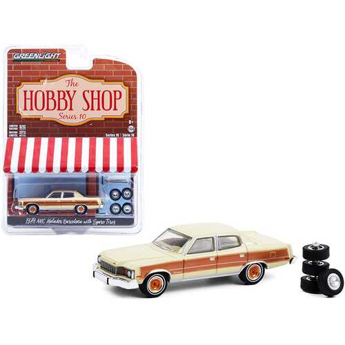 "1978 AMC Matador Barcelona Sand Tan and Golden Ginger with Spare Tires ""The Hobby Shop"" Series 10 1/64 Diecast Model Car by Greenlight"