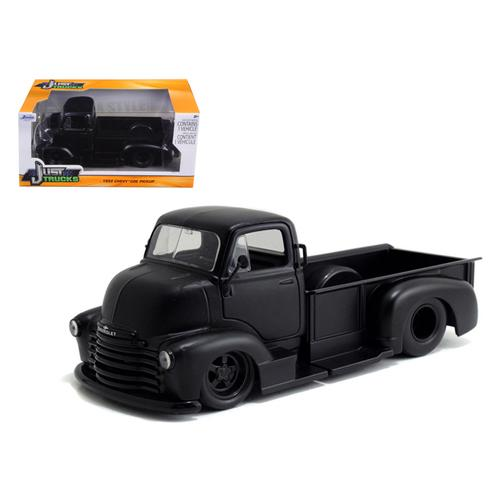 1952 Chevrolet COE Pickup Truck Matt Black 1/24 Diecast Model by Jada