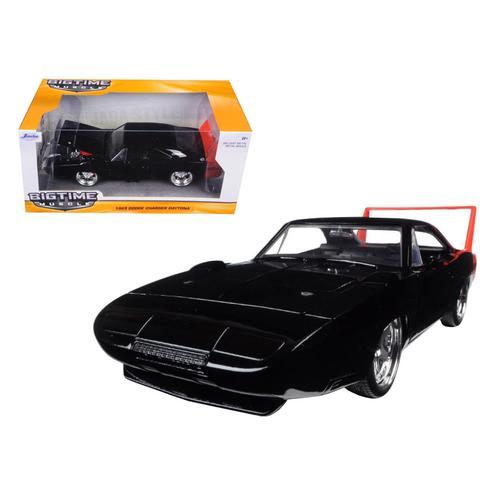 1969 Dodge Charger Daytona Black 1/24 Diecast Model Car by Jada