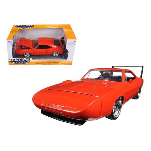 1969 Dodge Charger Daytona Orange 1/24 Diecast Model Car by Jada