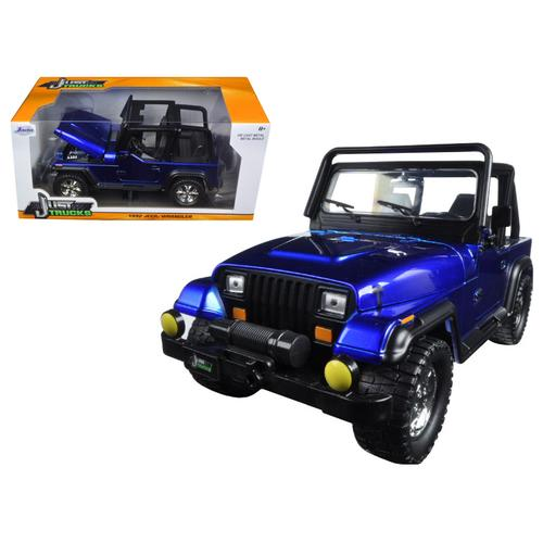 1992 Jeep Wrangler Metallic Blue 1/24 Diecast Model Car by Jada