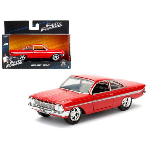 "Dom's Chevrolet Impala Red Fast & Furious F8 ""The Fate of the Furious"" Movie 1/32 Diecast Model Car  by Jada"