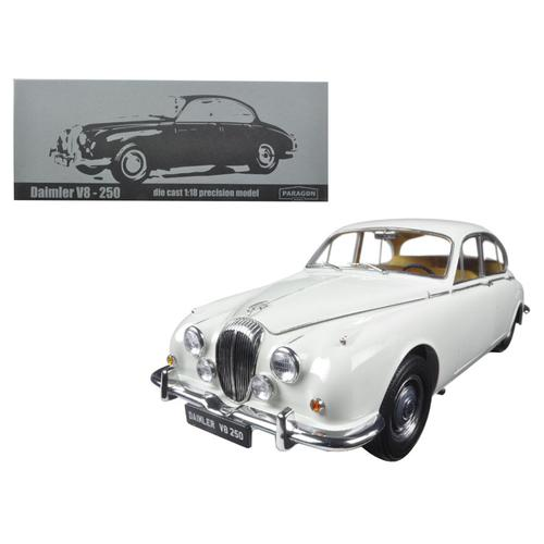 1967 Daimler V8-250 English White Left Hand Drive 1/18 Diecast Model Car by Paragon