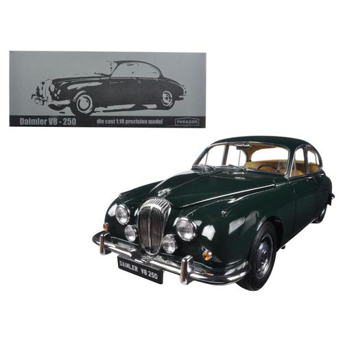 1967 Daimler V8-250 British Racing Green Left Hand Drive 1/18 Diecast Model Car by Paragon