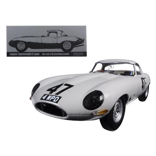 "1963 Jaguar Lightweight E-Type #47 ""Coombs 4 WPD"" 1/18 Diecast Model Car by Paragon"