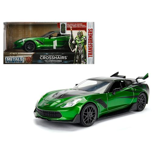 "2016 Chevrolet Corvette Crosshairs Green From ""Transformers"" Movie 1/24 Diecast Model Car by Jada Metals"